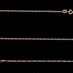"Jewelry - Italian Singapore chain 30"" in 14K rose gold"